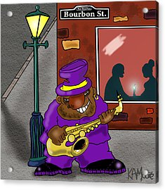 Blowin' On Bourbon Acrylic Print by Kev Moore
