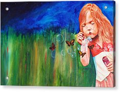 Blowing Butterflies Acrylic Print by Ned M Stacey Sr