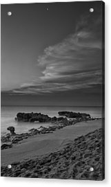 Blowing Rocks Black And White Sunrise Acrylic Print