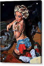 Blowjob Acrylic Print by George Frizzell