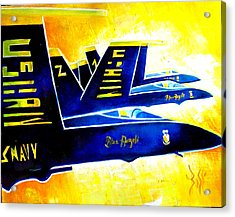 Blue   Angels  Acrylic Print by Arts  Boss