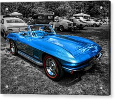 Blue '67 Corvette Stingray 001 Acrylic Print