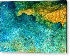 Blue Abstract #5 Acrylic Print