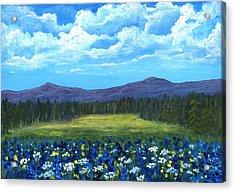 Acrylic Print featuring the painting Blue Afternoon by Anastasiya Malakhova