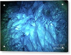 Acrylic Print featuring the photograph Blue Agate by Nicholas Burningham
