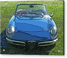Blue Alfa Romeo Spyder Acrylic Print