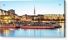 Acrylic Print featuring the photograph Blue Alster by Marc Huebner