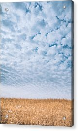 Blue And Amber Acrylic Print
