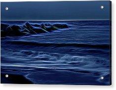 Blue And Black Acrylic Print by Zev Steinhardt