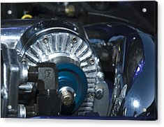Blue And Chrome My Favorite Color Combo Acrylic Print