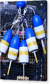 Blue And Gold Bouys Acrylic Print