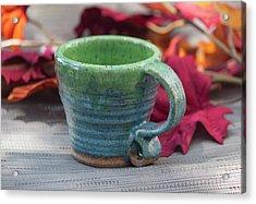 Blue And Green Mug Acrylic Print