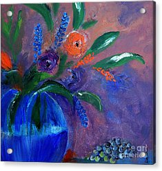 Blue And Orange Bouquet Acrylic Print by Lisa Kaiser