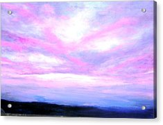 Blue And Pink Sky Acrylic Print