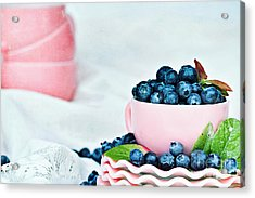Blue And Pink Acrylic Print