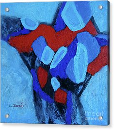 Blue And Red Acrylic Print