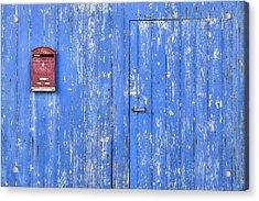 Blue And Red Acrylic Print by Joana Kruse