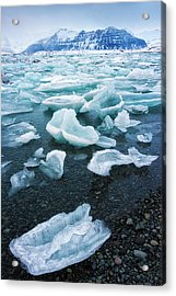 Acrylic Print featuring the photograph Blue And Turquoise Ice Jokulsarlon Glacier Lagoon Iceland by Matthias Hauser