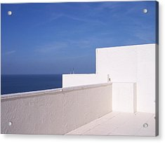 Blue And White Acrylic Print by Anna Villarreal Garbis