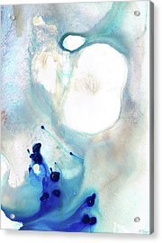 Acrylic Print featuring the painting Blue And White Art - A Short Wave - Sharon Cummings by Sharon Cummings