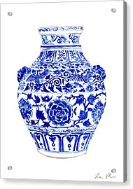 Blue And White Ginger Jar Chinoiserie 4 Acrylic Print