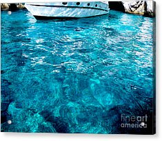 Blue And White Acrylic Print by Mike Ste Marie