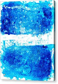 Blue And White Modern Art - Two Pools 2 - Sharon Cummings Acrylic Print by Sharon Cummings