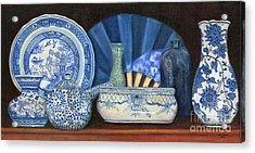 Blue And White Porcelain Ware Acrylic Print by Marlene Book