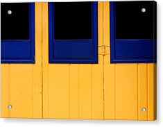 Blue And Yellow Acrylic Print by Art Block Collections