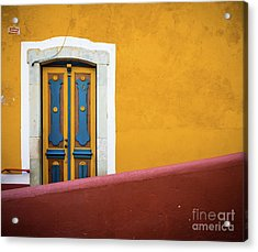 Blue And Yellow Door Acrylic Print by Inge Johnsson