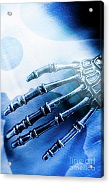 Blue Android Hand Acrylic Print by Jorgo Photography - Wall Art Gallery