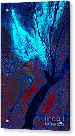 Yoga Angel At Midnight Acrylic Print