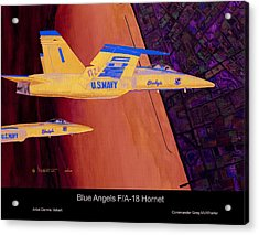 Blue Angels Acrylic Print by Dennis Vebert