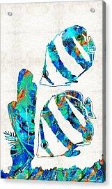 Blue Angels Fish Art By Sharon Cummings Acrylic Print