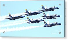 Blue Angels Hornet F18 Supersonic Jet Airplane . 7d2672 Acrylic Print by Wingsdomain Art and Photography