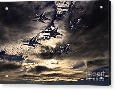 Blue Angels In The Sky Acrylic Print by Wingsdomain Art and Photography