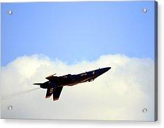 Acrylic Print featuring the photograph Blue Angels Maneuver by Gigi Ebert