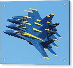 Blue Angels Acrylic Print by Melanie Beasley