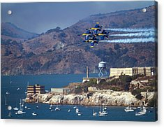 Blue Angels Over Alcatraz Acrylic Print