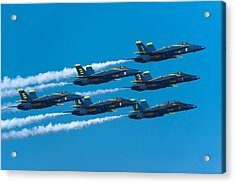 Blue Angels Acrylic Print by Sebastian Musial