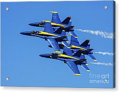Blue Angels Very Close Formation 1 Acrylic Print