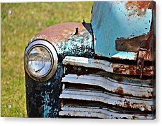 Blue Antique Chevy Grill- Fine Art Acrylic Print