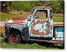 Blue Antique Chevy Truck- Fine Art Acrylic Print
