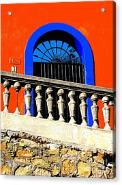Blue Arch 1 By Michael Fitzpatrick Acrylic Print by Mexicolors Art Photography