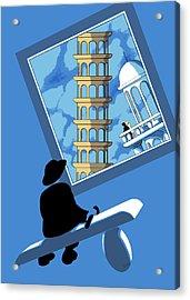 Blue Arthur Acrylic Print
