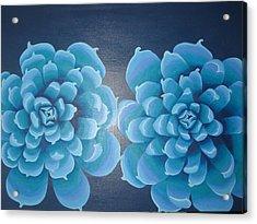 Blue Autum Acrylic Print by Sarah England-Rocca