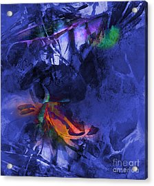 Blue Avatar Abstract Acrylic Print