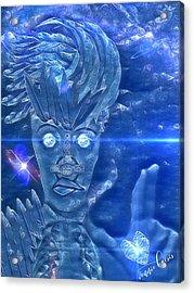 Blue Avian Acrylic Print
