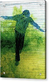 Blue Balance Acrylic Print by Gabrielle Senza