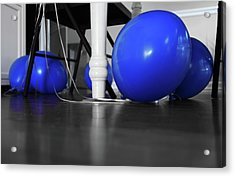 Blue Balloons Acrylic Print by Jennifer Ancker